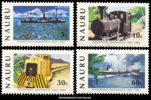 Nauru Scott 252-255 Mint never hinged.