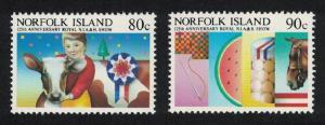 Norfolk Horses Cattle 2v SG#371-372 SC#371-372