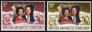 British Antarctic Territory Scott 43-44 Mint never hinged.