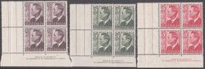 AUSTRALIA GVI 3 imprint blocks MNH...........................................865