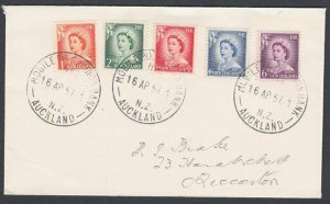 NEW ZEALAND 1957 cover MOBILE P.O. SAVINGS BANK Auckland cds................L256