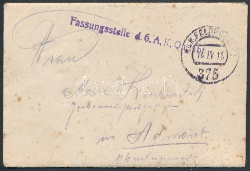 Hungary stamp Austria-Hungary Field cover 1918 WS241904