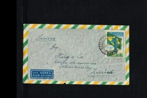 1951 - Brasil Air letter - To Zürich [B06_118]