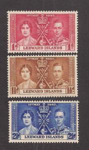 LEEWARD ISLANDS SC# 100-2 F-VF MNH 1937
