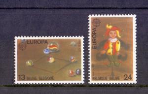 Belgium  1989  MNH Europa children`s toys  jumping-jack   marbles