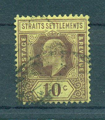 Straits Settlements sc# 116 (2) used cat value $1.10