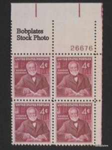 #1171 Carnegie Lower Right  Plate Block 26674 F-VF NH