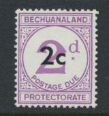 Bechuanaland Postage Due SG D8a  Large d   Type I   Mounted Mint