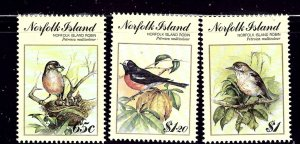 Norfolk Is 497-99 MNH 1990 Birds