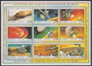 1990 Sierra Leone 1374-1382KL Olympus Mons 36,00 €