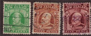NEW ZEALAND - King Edward VII 1909 Used