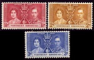 1937 Northern Rhodesia 22-24 MLH King George VI