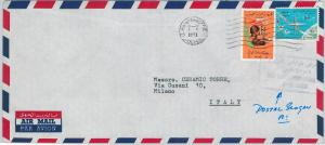 61182  -  LIBYA - POSTAL HISTORY -  COVER to ITALY 1971 -  SPACE Astro