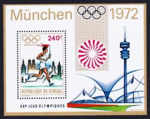 Senegal Olympic Games Munich MS 1972 MNH SG#MS500 SC#369