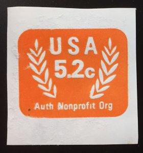 US #U604 Envelope Cutout 5.2c Auth Nonprofit Org