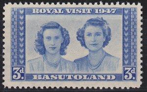 Basutoland, Princesses, Royal Visit Sc.37,  Mint light hinge