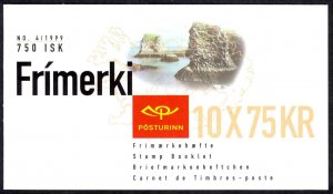 Iceland Sc# 884a MNH Complete Booklet 1999 75k Europa