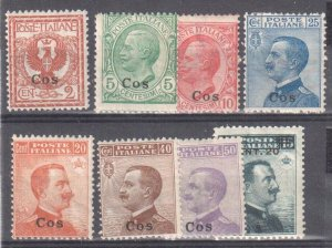Cos (Italia) #1, 2, 3, 5 to 8, 11  MINT LH