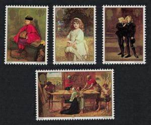Jersey Paintings by Sir John Millais International Year of the Child 4v