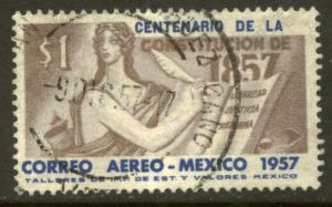 MEXICO C240, $1P Centenary of the Constitution. Used. (1112)