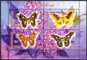 Chad 2013 Butterflies (2) MNH Cinderella !