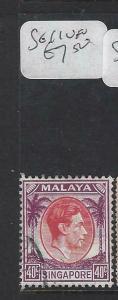 SINGAPORE  (P1404BB)  KGVI  40C  SG 11   VFU