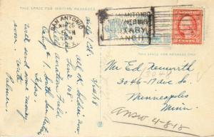 United States Texas San Antonio, Tex. S. San Antonio Military Branch 1918 Uni...