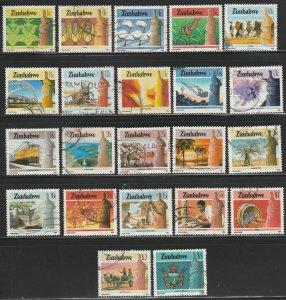 Zimbabwe, #493-514 Used From 1985