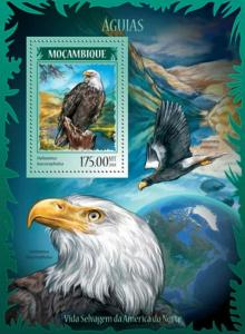 Mozambique MNH S/S Eagles 2014
