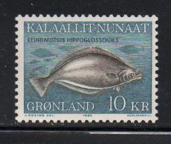 Greenland Sc 138 1985 10 kr fish stamp mint NH