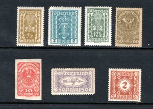 AUSTRIA MNH VF Early Stamps