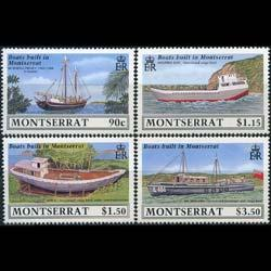 MONTSERRAT 1989 - Scott# 717-20 Ships Built Set of 4 NH