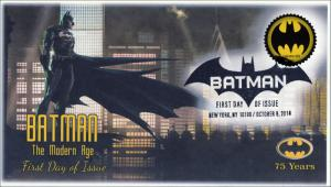 SC 4928, 2014, Batman, Modern Bat Signal, Pictorial Postmark, FDC, 75th Anniv