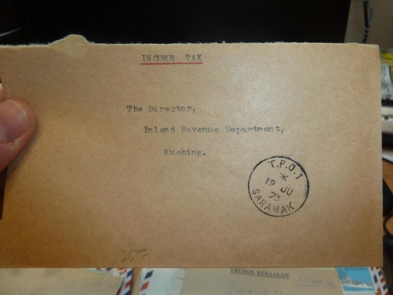 Sarawak Cover TPO 1 Stampless 1973 cover one (27beh)