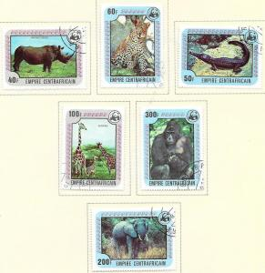 Central African Republic #323-328  Animals (U) CV$5.35