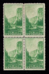 #740 MintNo Gum Block Of Four National Parks Year Issue F-VF