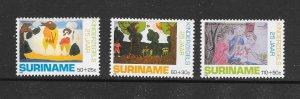 SURINAME #B368-70  CHILDREN'S ART  MNH
