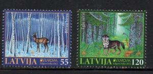 Latvia Sc 779-80 2011 Wild Animals stamp set mint NH