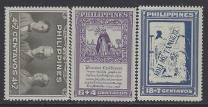 Philippines, Scott #B1-B3; Library Issue, MNH