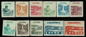 Colombia SC# C134-C144, Mint Hinged, Hinge Remnant, see notes - S10319