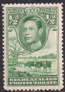 Bechuanaland 1938 - 52 KGV1 1/2d Green MM SG 118 ( A797 )