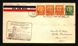 Canada 1929 FFC London to Hamilton - Z17396