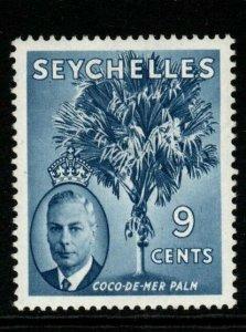 SEYCHELLES SG160 1952 9c CHALKY BLUE MTD MINT