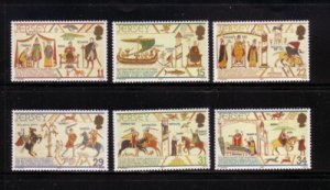 Jersey Sc 431-36 1987  William the Conqueror stamp set mint NH