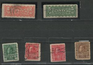 Canada Registration and war tax stamps used