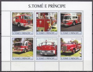 2003 Sao Tome and Principe 2277-81KL Cars / Oversized Fire Department 11,00 €