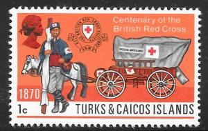 Turks and Caicos 209: 1c Ambulance, 1870, MH, F-VF