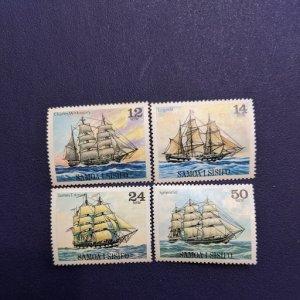 Samoa 503-6, 521-4, 543-6 XFNH complete sets, CV $5.95
