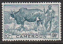 1946 Cameroun - Sc 306 - MH VF - 1 single - Zebu and Herder