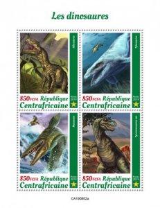 C A R - 2019 - Dinosaurs - Perf 4v Sheet  - M N H